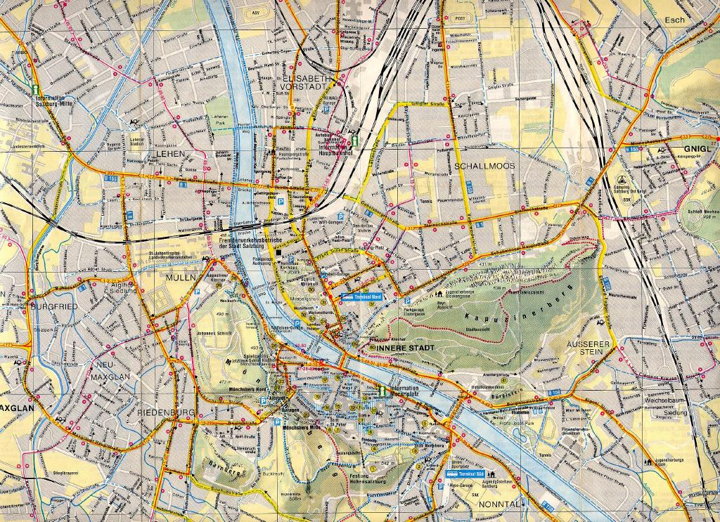 M Held Maps and Directions – Salzburg Tourist Map